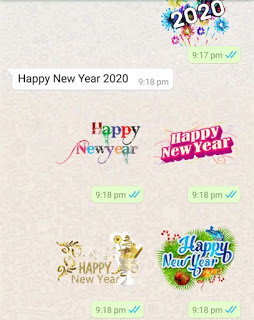 New Year Stickers for WhatsApp