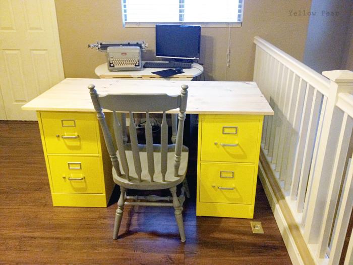 Yellow Pear Blog: DIY Filing Cabinet Desk