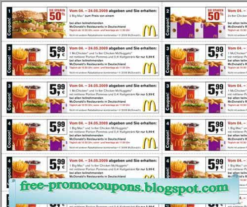 Mcdonalds printable coupons 2019 uk