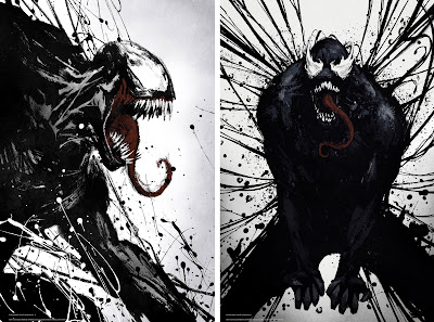 Venom Splatter Art Theatrical One Sheet Movie Posters