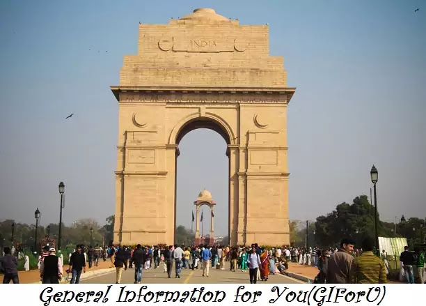 India Gate-Best Tourist Places to Visit in Delhi India-GIforU