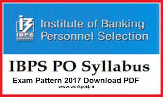 IBPS PO Exam Syllabus 2017