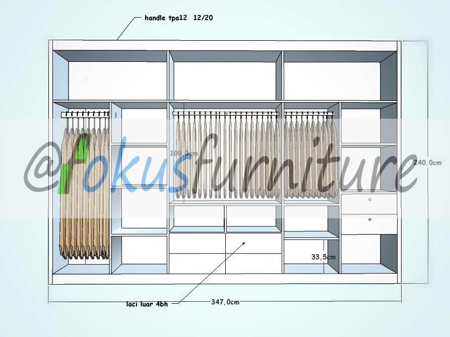 Lemari pakaian dan kitchen set di cilandak furniture for Lemari kitchen set aluminium