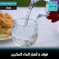الماء الفوار : تعرف على فوائد و أضرار الماء المكربن