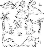 דינוזאורים לצביעה