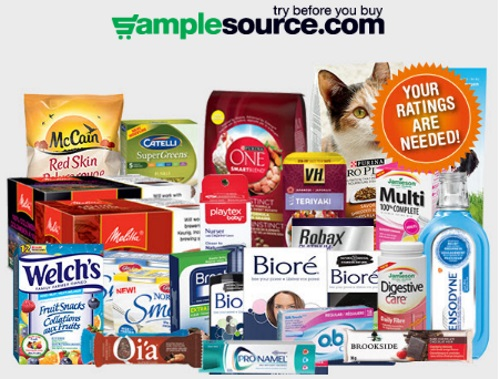 Samplesource Free Sampler Pack Survey