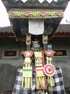 In Bali, there Penunggun Karang, every yard of the house there is a security guard who keep from evil spirits disorders