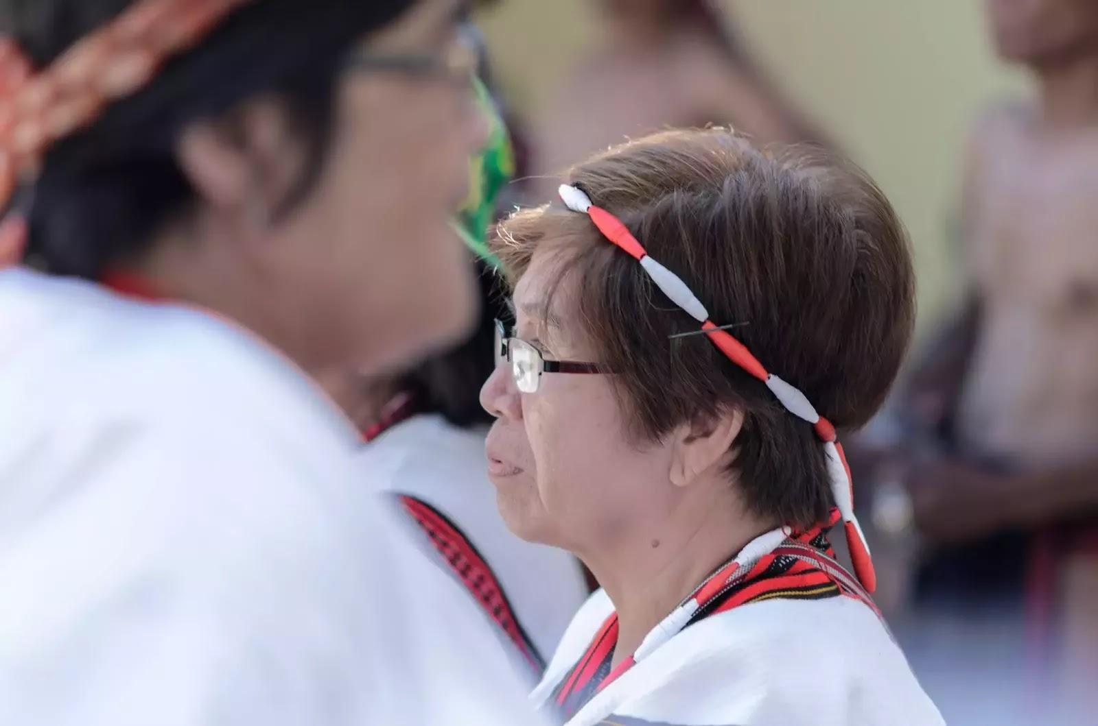 Etho Indigenous Woman Bead Head Gear Portrait
