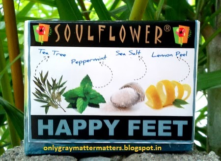 Soulflower happy feet handmade aromatherapy soap foot spa