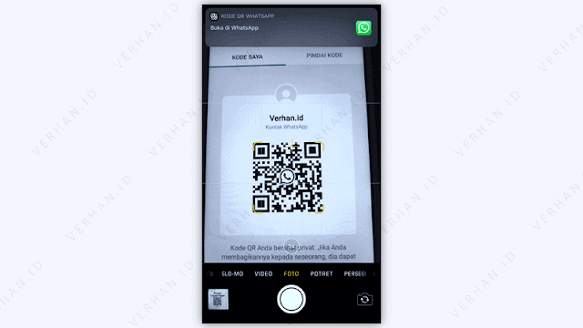 cara scan barcode whatsapp di ios