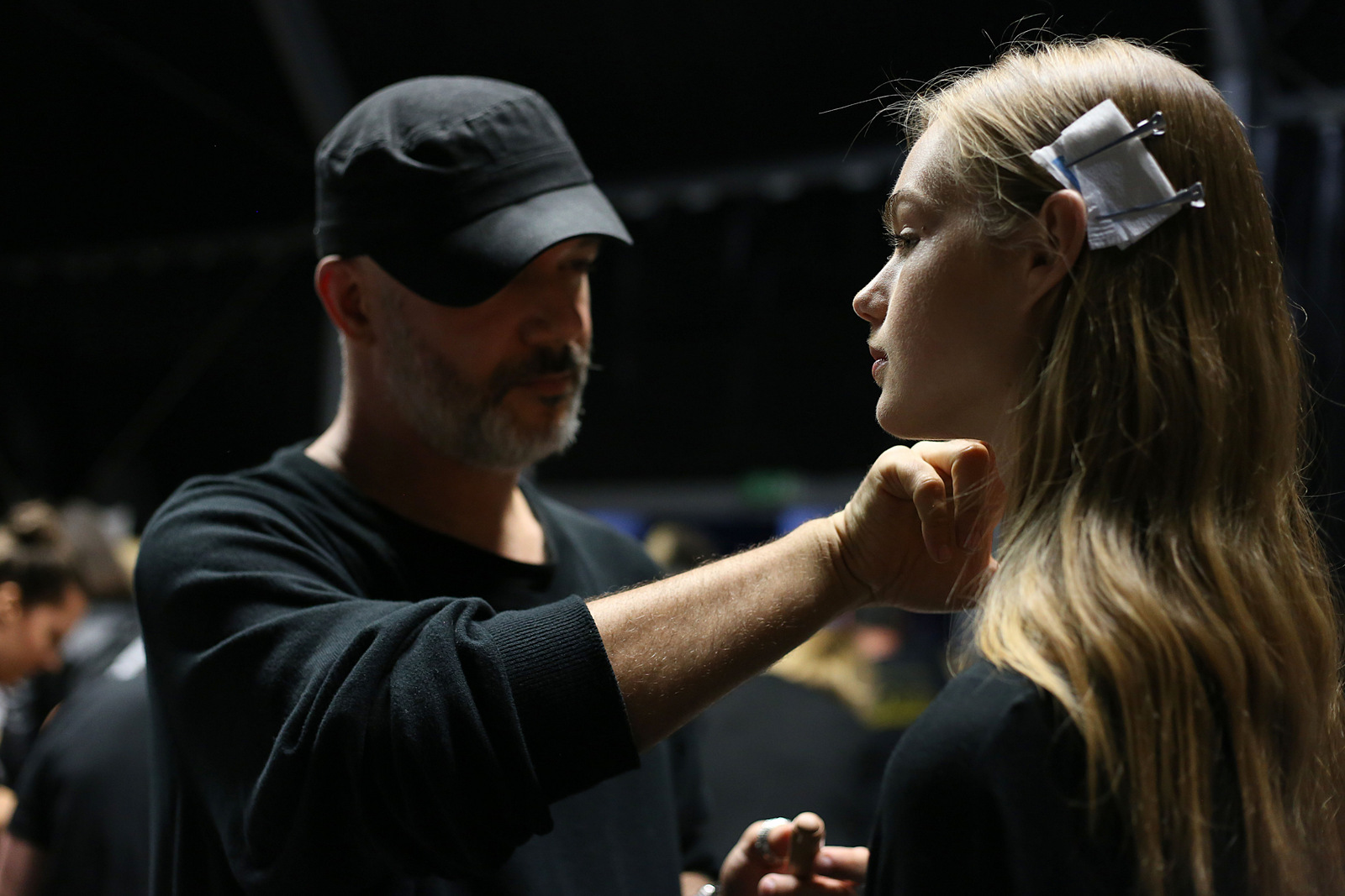 Francesco Scognamiglio Backstage with Clinique