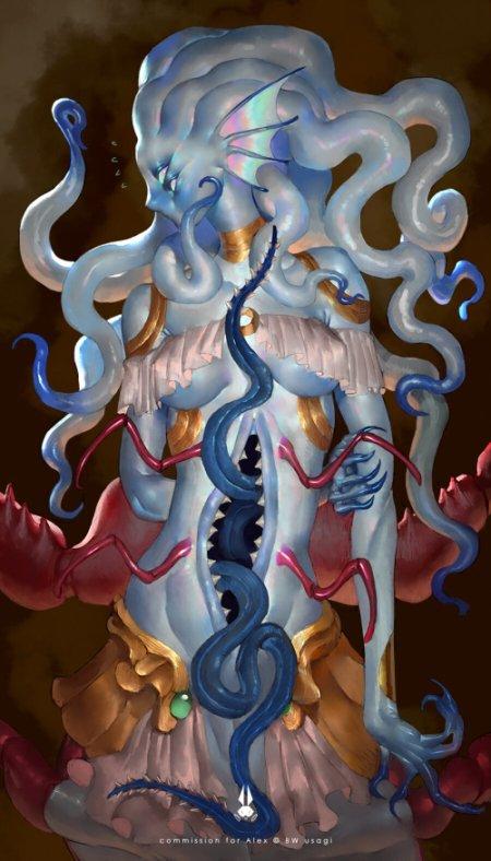 BW Usagi (Rika) artstation arte ilustrações terror monstros fantasia ficção sombria monstros