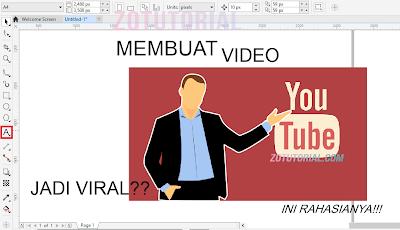 Cara Membuat Thumbnail YouTube Keren Dengan CorelDraw X8