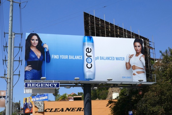 Demi Lovato Core water Find balance billboard