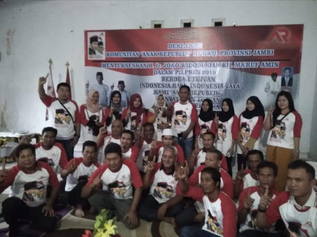 Komunitas Anak Republik Jambi Dukung Jokowi