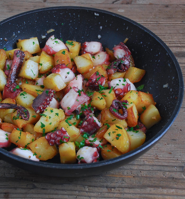 Pulpo con patatas - El bistrot de Carmen