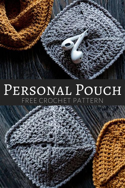 Personal Pouch - Free Crochet Pattern