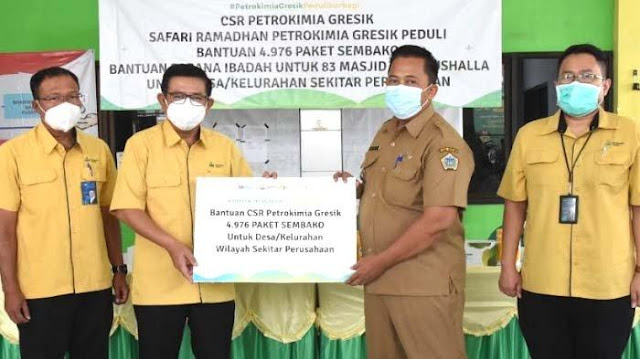 Petrokimia Gresik SalurkanCorporate Social Responsibility (CSR) Senilai Rp 1,1 Miliar