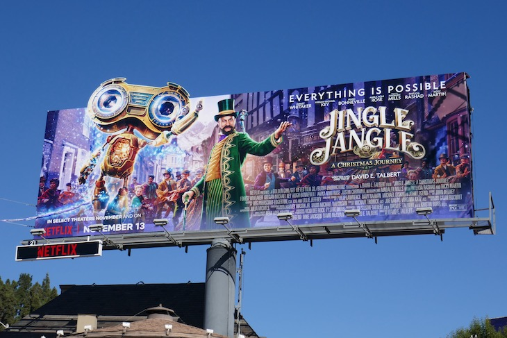 Jingle Jangle Netflix film billboard