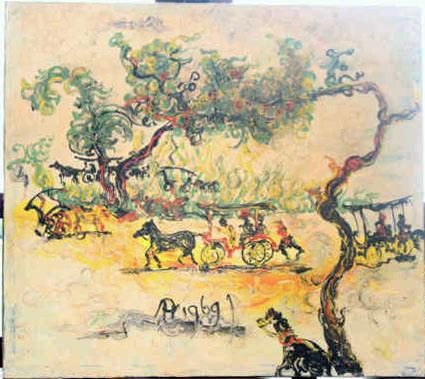 Galeri Lukisan: Andong Solo - Affandi