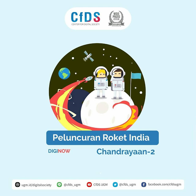 Peluncuran Roket India Chandrayan-2