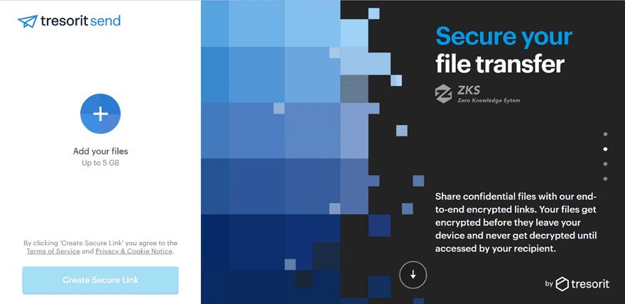 Tresorit Send 端對端加密分享檔案