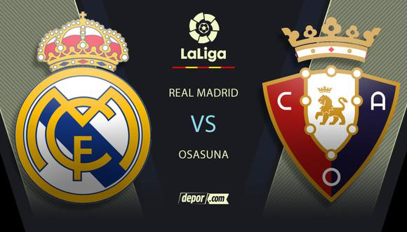 Real Madrid vs. Osasuna EN VIVO: canales e incidencias ONLINE por LaLiga