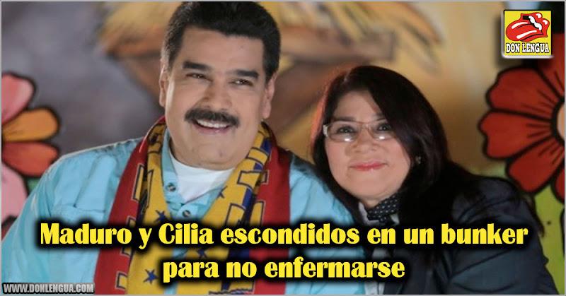 Maduro y Cilia escondidos en un bunker para no enfermarse