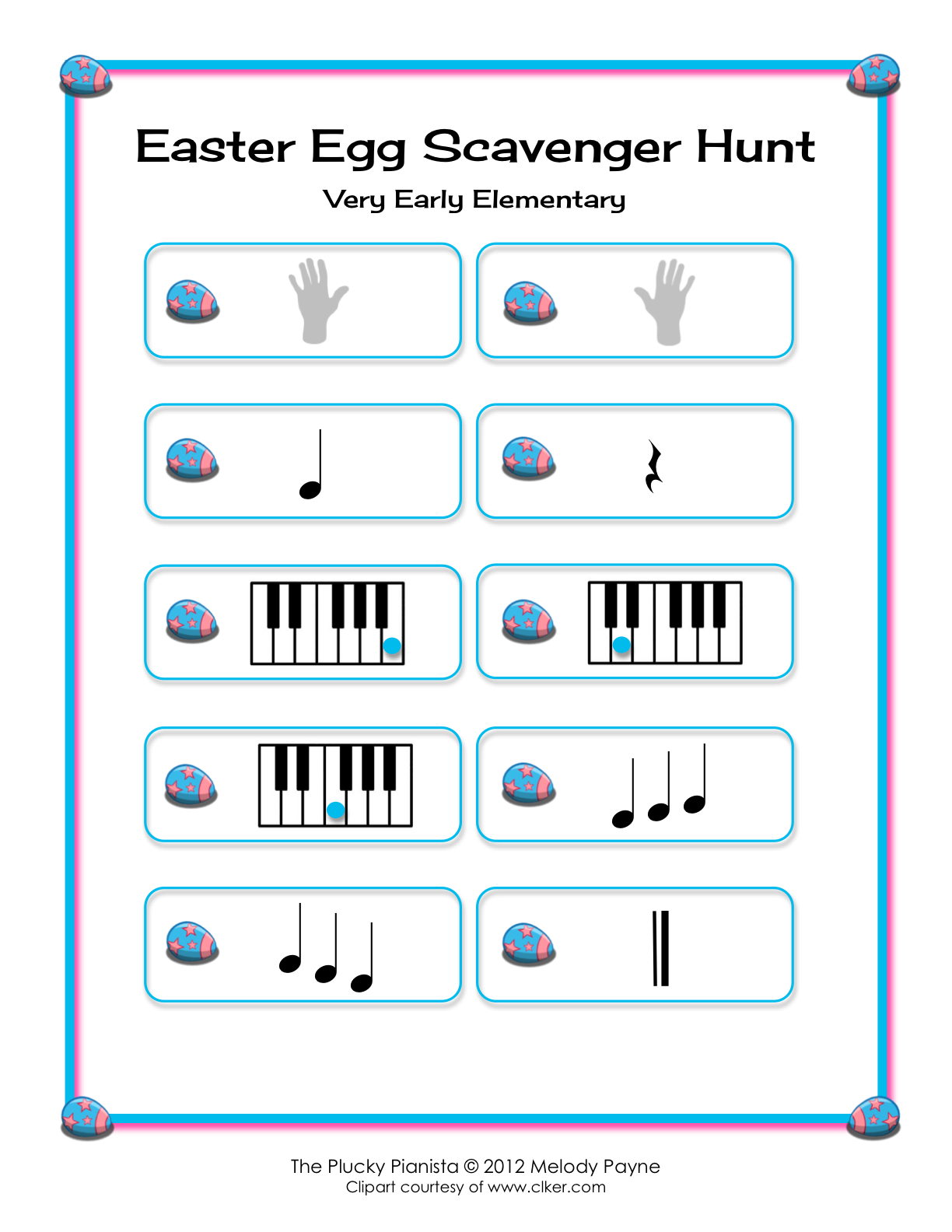 Easter Egg Scavenger Hunt - Very Early Elementary