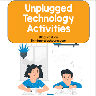 No tech?  No problem!  Here are activities you can do 100% unplugged. Great for days when the WiFi is out or you don't have access to devices.
