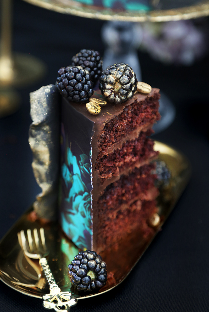 Vanitas Chocolate Cake with Death Wish Coffee Ganache