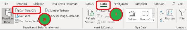 convert csv ke xlsx dengan import data teks