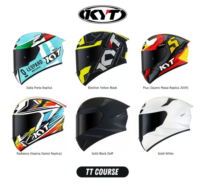 Pilihan warna KYT TT Course