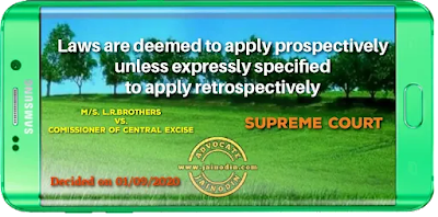 Laws are deemed to apply prospectively unless expressly specified to apply retrospectively