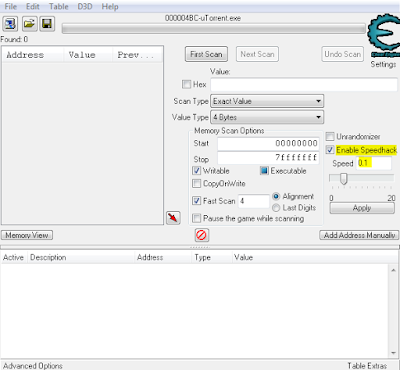 Cheat Engine enable speed hack