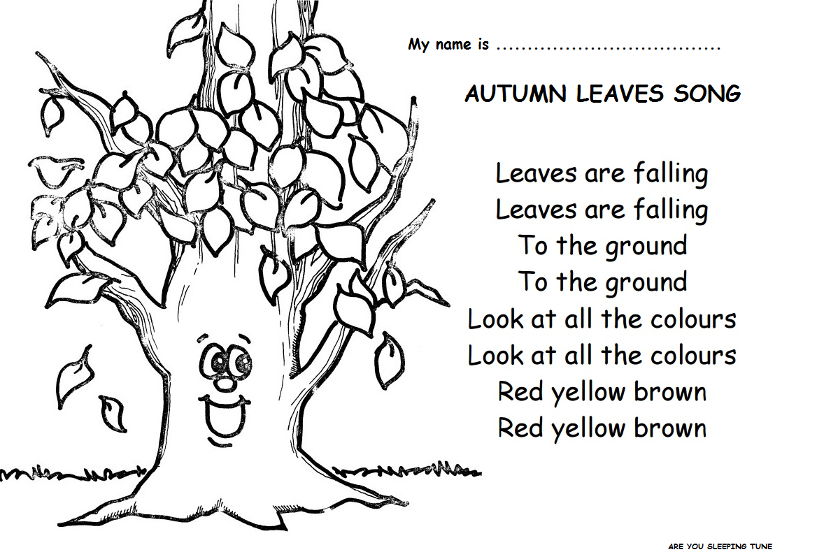 Little Learners English Corner Autumn Activities