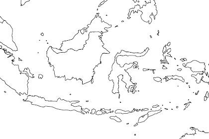 Peta Indonesia Untuk Digambar dan Diwarnai