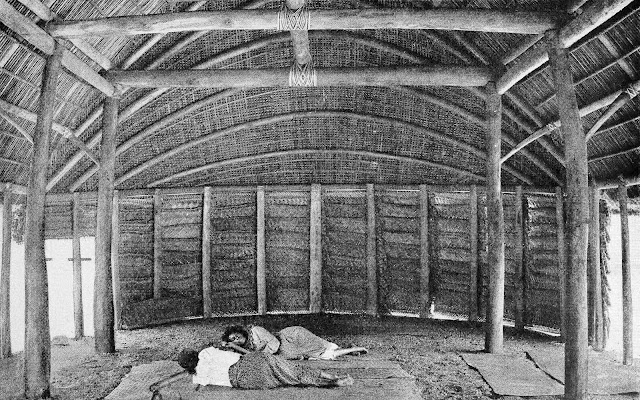 Samoa interior from an old book, a photograph