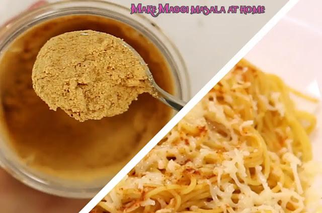 Make Maggi masala at home, increase vegetable flavor