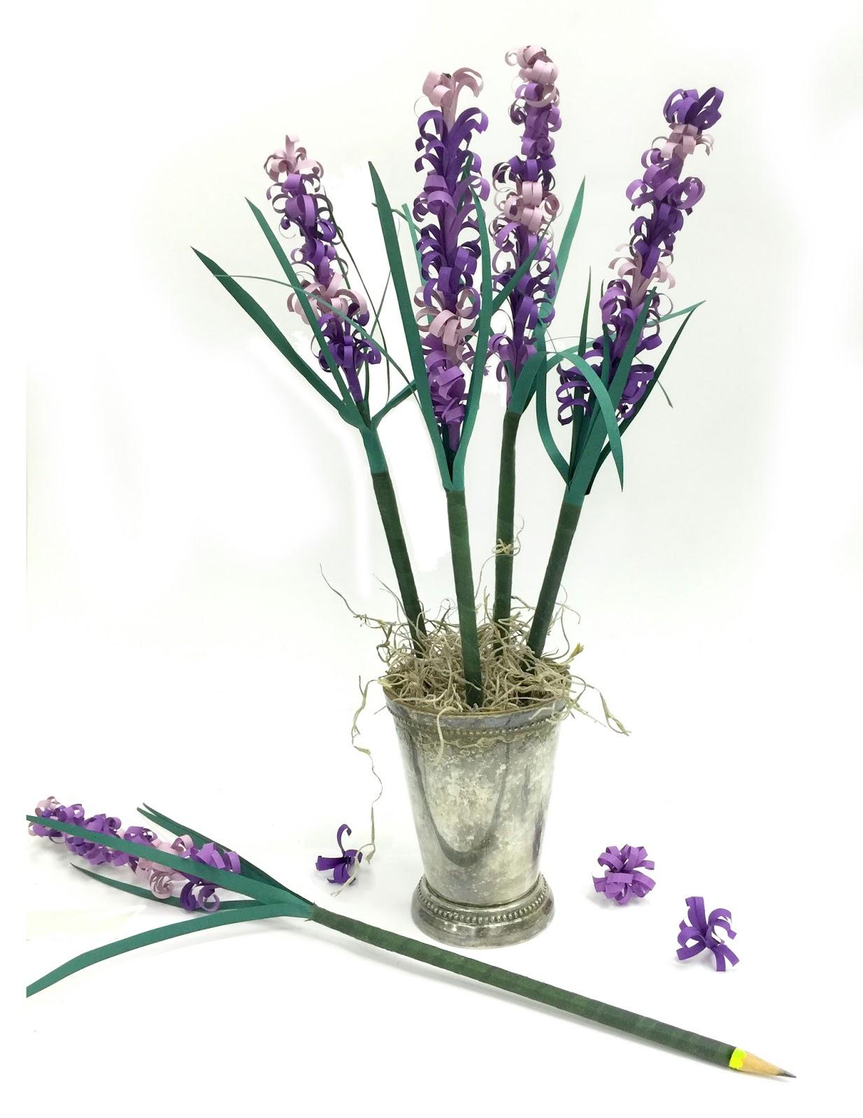 facci designs  how to make paper lavender sprig pencil