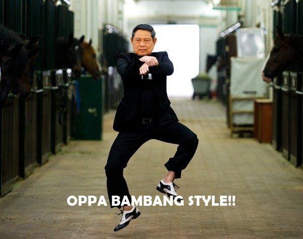 gambar lucu SBY gangnam style