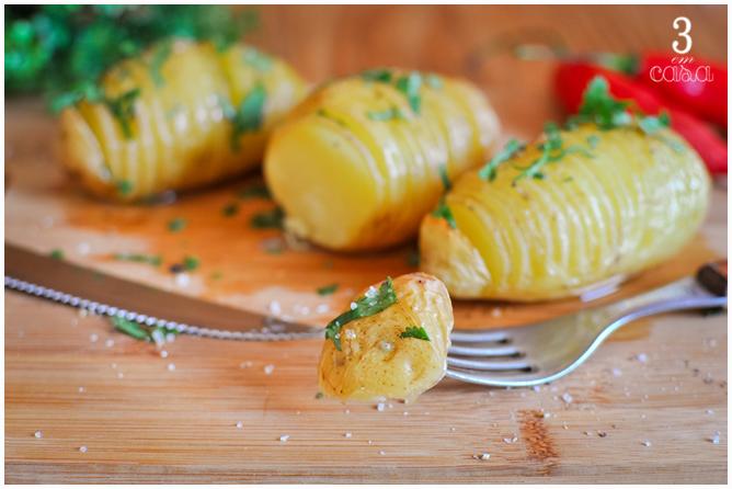 como preparar batata hasselback