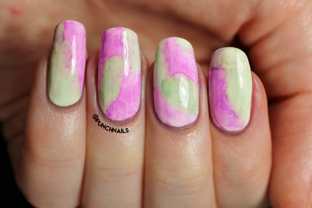 Punch Nails: Watercolour Sharpie Nail Art