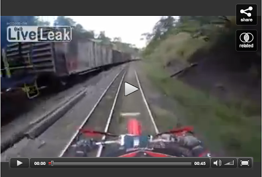 Riding motorcycle on a railway tracks is never a good idea Reality Videos