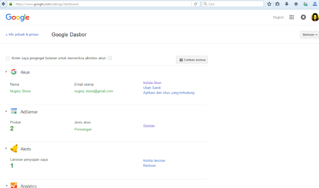 Google Dasbor