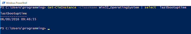 PowerShell: Last Boot time