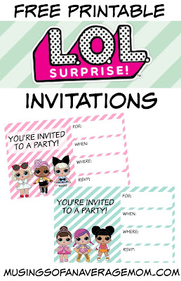 free printable L.O.L. surprise dolls party printables