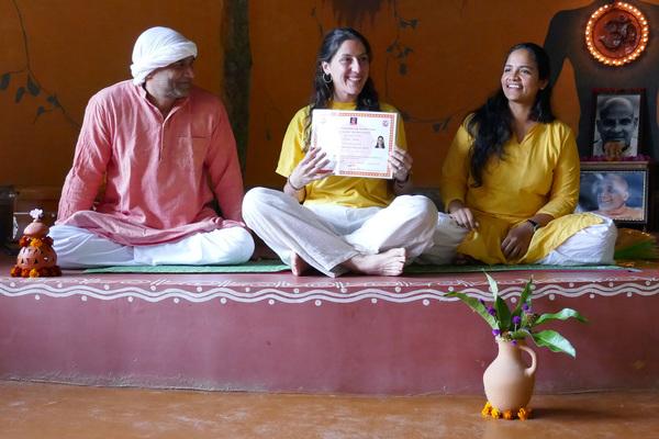 Yoga Retreat India Certificate of Participation Inteyoga.org