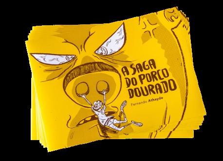 Quadrinista Pernambucano Fernando Athayde lança HQ A Saga do Porco Dourado