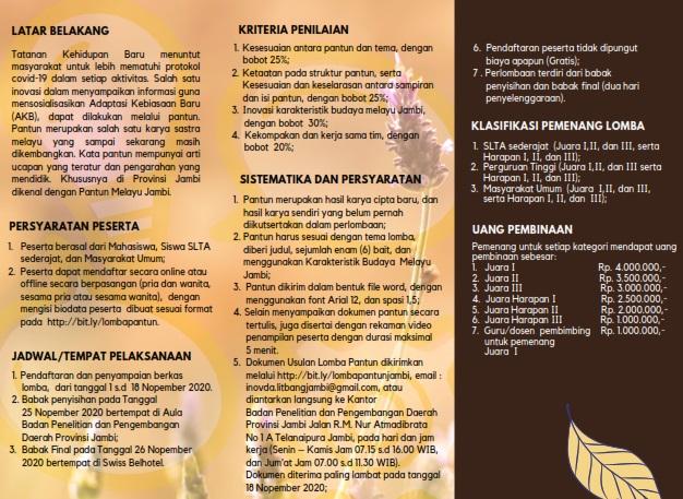 Pemprov Jambi Gelar Lomba Pantun Melayu Jambi Berhadiah Puluhan Juta Baca Infonya Dan Daftarkan Segera Tebo Top